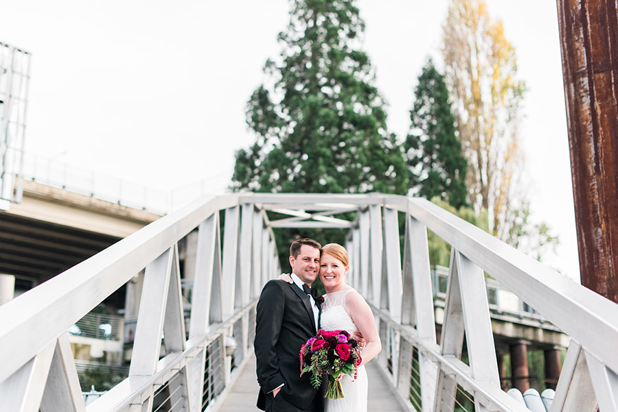 East Bank Esplanade Wedding Photo