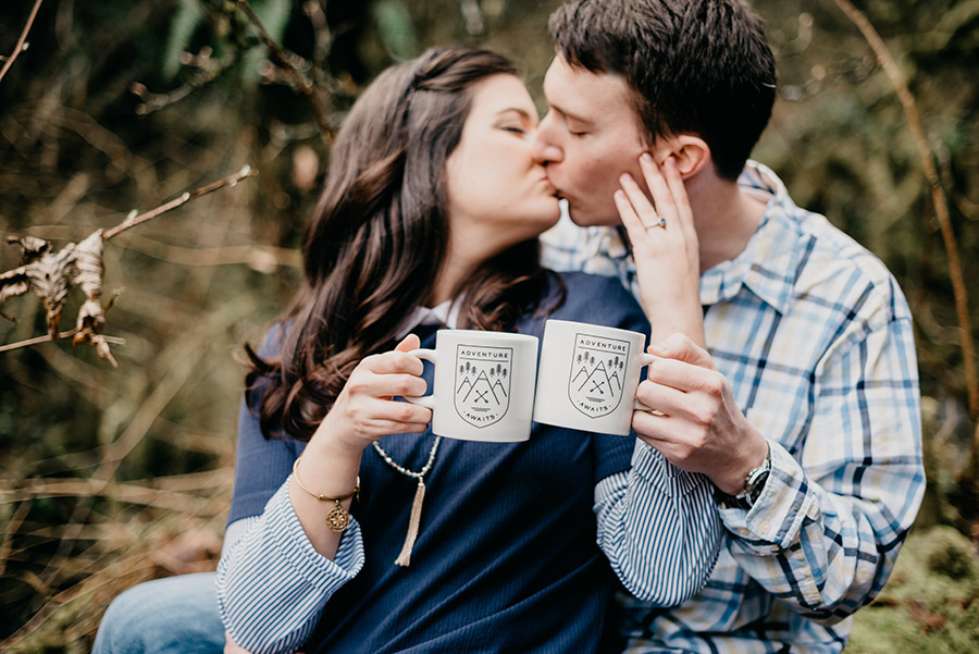 Portland Forest Park Engagement Photos Deyla Huss Photography