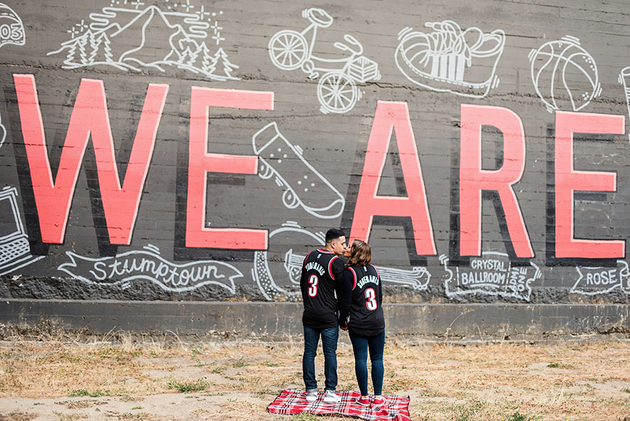 Portland Engagement Portraits Photography Mural