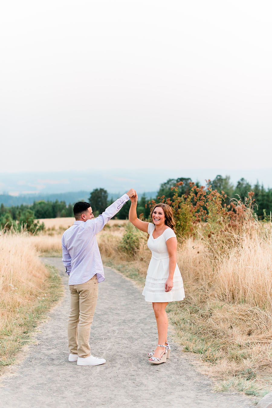 Cooper Mountain Nature Park Engagement Photo
